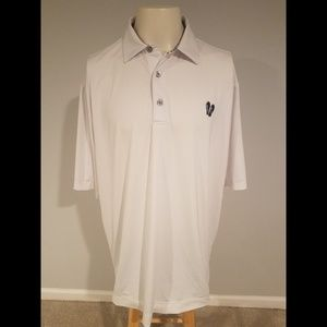 Footjoy S/S White Collared Golf Polo Shirt Size XL